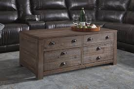 rustic pine trunk style rectangular lift top coffee table with 2