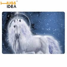 online shop hugsidea unicorn designer carpet area rug for bedroom