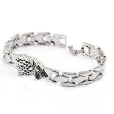 family bracelets stark family bracelets silver wolf braclet titanium pulseras