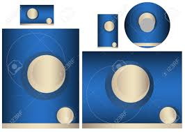 template for business card letter and cd add your logo and