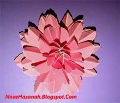 membuat hiasan bunga dari kertas lipat cara membuat bunga teratai dari kertas bekas sul makalah