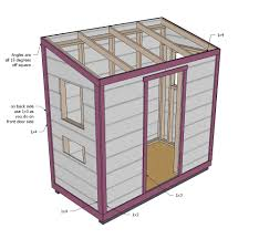 Free Plans How To Build A Wooden Shed by Ana White Shed Chicken Coop Diy Projects