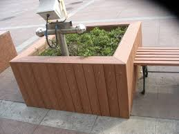 wood plastic composite flower boxes benches of quality wood flower