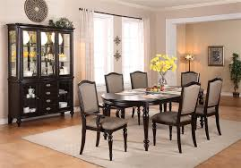 Dining Room Table And Hutch Sets Foley 7 Piece Dining Set In Espresso Finish By Crown Mark 2227