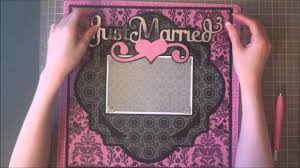 Scrapbook Wedding Album Faith Abigail Designs Wedding Album Series Just Married Single