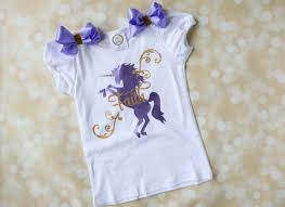 Unicorn Clothes For Girls Unicorn Birthday Shirt Personalized Girls Birthday T Shirt