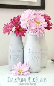 How To Paint A Glass Vase With Acrylic Paint Chalk Paint Milk Bottles Little Red Window