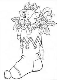 stocking 2 digistamps embroidery christmas