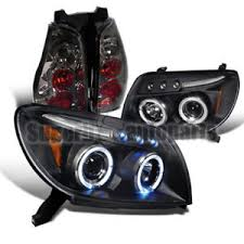 2003 2005 toyota 4runner halo black led projector headlights smoke