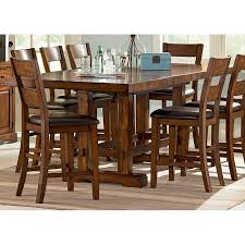 zappa 9 piece counter set with mission style table dcg stores