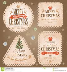 set of lace paper for christmas vector royalty free stock image