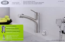 Kitchen Faucet Water Supply Lines Satin Nickel Water Ridge Pull Out Kitchen Faucet Single Hole