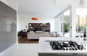 gloss white and grey contemporary kitchen malahide