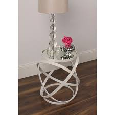 ivory accent table marea round ivory metal mirrored accent side table free shipping