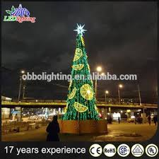 Giant Commercial Outdoor Christmas Decorations by Giant Outdoor Christmas Tree 2 7m Led Christmas Commercial Giant