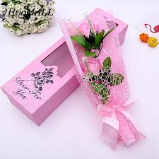 How To Make Decorative Gift Boxes At Home Hoomall Single Soap Flowers With Gift Box Artificial