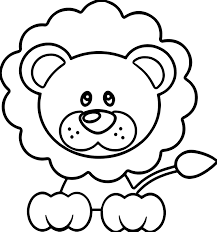 calm lion coloring page wecoloringpage
