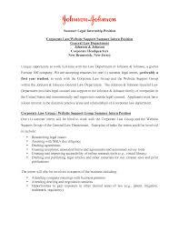 cover letter for resume for law internship