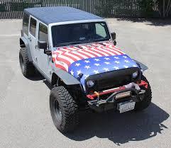 american jeep american flag jeep hood wrap visual horizons custom signs