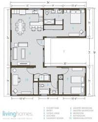 Courtyard House Floor Plans Contemporary Style House Plan 3 Beds 2 5 Baths 2180 Sq Ft Plan