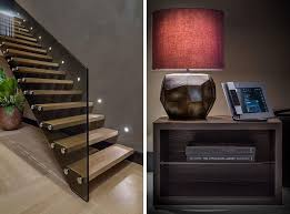Glass Stairs Design Architecture Modern Staircase Design With Wooden Footing And