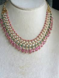 colour pearl necklace images Pearl ruby and weald woven necklace pearls other colour beads jpg