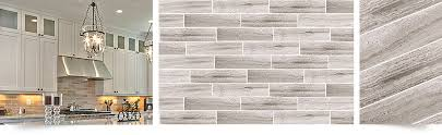 Gray Marble Subway Backsplash  Bathroom Tile Backsplashcom - Modern backsplash tile