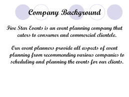 event planning companies five event planning system five service for a three