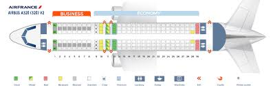 Air France Route Map by Seat Map Airbus A320 200 Air France Best Seats In Plane