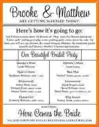 wedding program templates 8 free printable wedding program templates card authorization 2017
