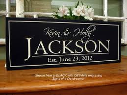 personalized wedding plaque carved personalized family name sign 8 x 20 by signsofadaydreamer