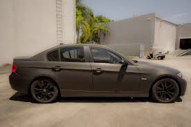 matte bmw bmw 3 series matte black car wrap boca raton florida 3m