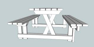 Plans For A Picnic Table With Separate Benches by Picnic Table And Bench 2 In 1 7 Steps With Pictures