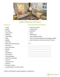 Off Site Meeting Agenda Template by Best Meeting Ever Tip 28 Offsite Meeting Checklist