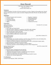 Warehouse Resume Template Forklift Operator Resume Template Examples