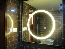 illuminated mirrors for bathrooms backlit bathroom mirror diy backlit bathroom mirror diy home