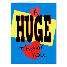 thank you card size a thank you jumbo poster size card zazzle