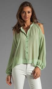 open shoulder blouse blaque label open shoulder blouse in mint revolve