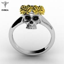 skull wedding ring sets discount skull wedding ring sets 2017 skull wedding ring sets on