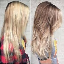 wash hair after balayage highlights neutral blonde root extension with face framing highlights