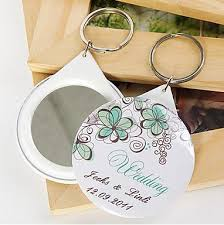 keychain favors free shipping 1pcs personalized wedding favors and gifts mirror