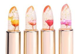 these color changing lipsticks feature real flowers trapped inside