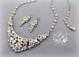pearl rhinestone necklace images Wedding necklace earrings swarovski pearl rhinestone backdrop jpg