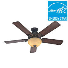 sonora 52 in indoor bronze ceiling fan with light kit