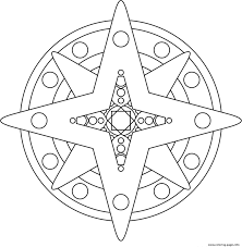 star shape mandala s4aab coloring pages printable