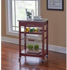 linon kitchen island rolling cart granite top 4 wine bottle rack