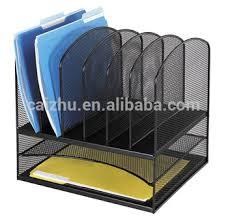 Paper Desk Organizer Black Wire Mesh Office Desk Organizer File Hoder Paper Organizer