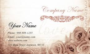 wedding planning business wedding planner business cards roses wedding planner business card