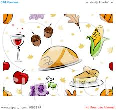 clipart seamless thanksgiving background of food royalty free