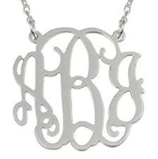 silver monogram necklace lace monogram necklace i jewelry